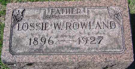 ROWLAND, LOSSIE W - Franklin County, Ohio | LOSSIE W ROWLAND - Ohio Gravestone Photos