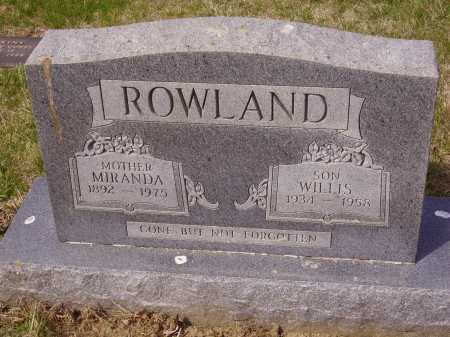 ROWLAND, MIRANDA - Franklin County, Ohio | MIRANDA ROWLAND - Ohio Gravestone Photos