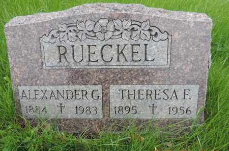 RUECKEL, THERESA F - Franklin County, Ohio | THERESA F RUECKEL - Ohio Gravestone Photos
