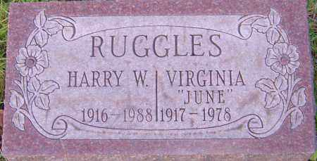 RUGGLES, HARRY - Franklin County, Ohio | HARRY RUGGLES - Ohio Gravestone Photos