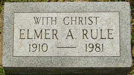 RULE, ELMER A - Franklin County, Ohio | ELMER A RULE - Ohio Gravestone Photos