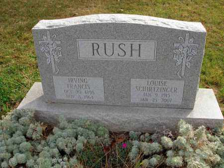 SCHIRTZINGER RUSH, LOUISE - Franklin County, Ohio | LOUISE SCHIRTZINGER RUSH - Ohio Gravestone Photos