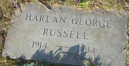 RUSSELL, HARLAN GEORGE - Franklin County, Ohio | HARLAN GEORGE RUSSELL - Ohio Gravestone Photos
