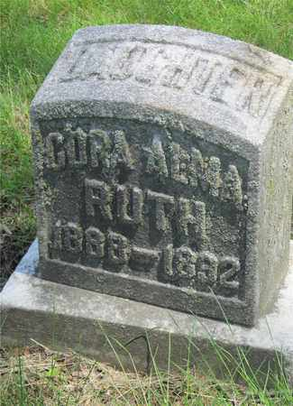 RUTH, CORA ALMA - Franklin County, Ohio | CORA ALMA RUTH - Ohio Gravestone Photos