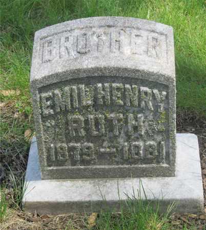 RUTH, EMIL HENRY - Franklin County, Ohio | EMIL HENRY RUTH - Ohio Gravestone Photos