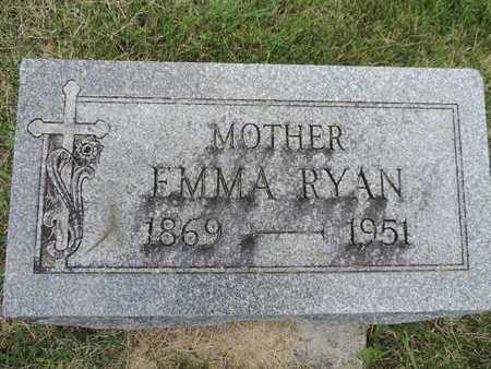 RYAN, EMMA - Franklin County, Ohio | EMMA RYAN - Ohio Gravestone Photos