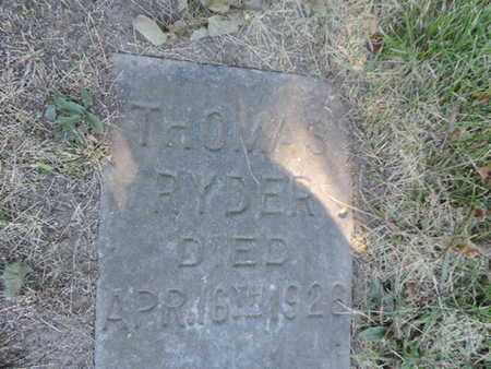 RYDER, THOMAS - Franklin County, Ohio | THOMAS RYDER - Ohio Gravestone Photos