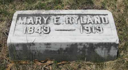 RYLAND, MARY E. - Franklin County, Ohio | MARY E. RYLAND - Ohio Gravestone Photos