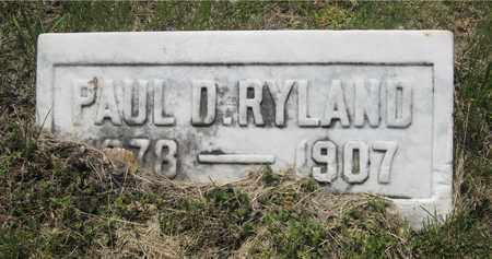 RYLAND, PAUL D. - Franklin County, Ohio | PAUL D. RYLAND - Ohio Gravestone Photos