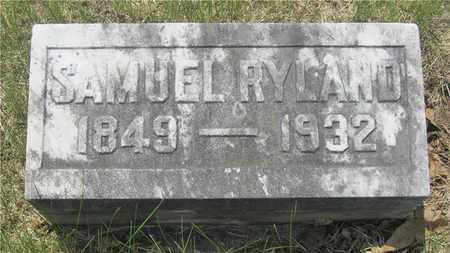 RYLAND, SAMUEL - Franklin County, Ohio | SAMUEL RYLAND - Ohio Gravestone Photos
