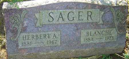 SAGER, BLANCHE - Franklin County, Ohio | BLANCHE SAGER - Ohio Gravestone Photos