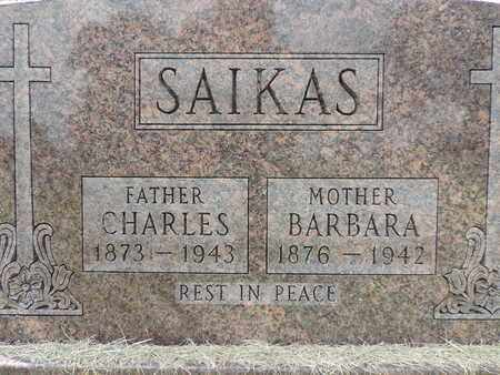 SAIKAS, BARBARA - Franklin County, Ohio | BARBARA SAIKAS - Ohio Gravestone Photos