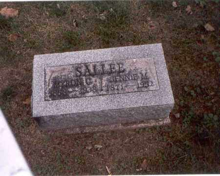SALLEE, JENNIE M. - Franklin County, Ohio | JENNIE M. SALLEE - Ohio Gravestone Photos