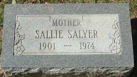 SALYER, SALLIE - Franklin County, Ohio | SALLIE SALYER - Ohio Gravestone Photos