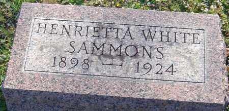 SAMMONS, HENRIETTA - Franklin County, Ohio | HENRIETTA SAMMONS - Ohio Gravestone Photos