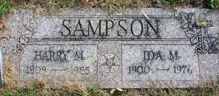 SAMPSON, HARRY M. - Franklin County, Ohio | HARRY M. SAMPSON - Ohio Gravestone Photos