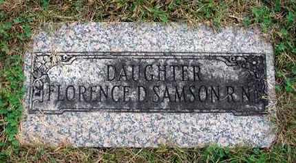 SAMSON, FLORENCE D. - Franklin County, Ohio | FLORENCE D. SAMSON - Ohio Gravestone Photos