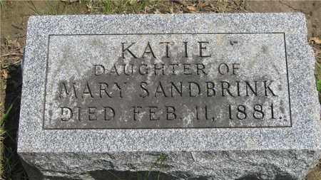 SANDBRINK, KATIE - Franklin County, Ohio | KATIE SANDBRINK - Ohio Gravestone Photos