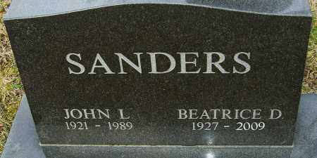 SANDERS, JOHN L - Franklin County, Ohio | JOHN L SANDERS - Ohio Gravestone Photos
