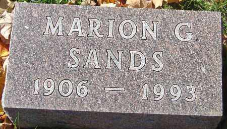 SANDS, MARION G - Franklin County, Ohio | MARION G SANDS - Ohio Gravestone Photos