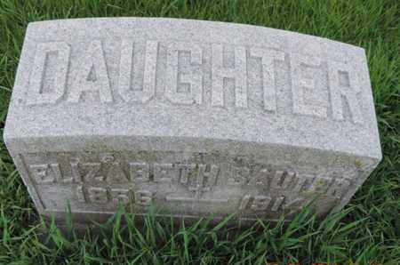 SAUTER, ELIZABETH - Franklin County, Ohio | ELIZABETH SAUTER - Ohio Gravestone Photos