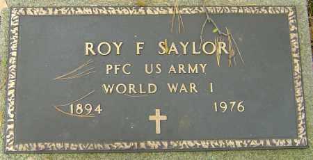 SAYLOR, ROY F - Franklin County, Ohio | ROY F SAYLOR - Ohio Gravestone Photos