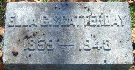 SCATTERDAY, ELLA G - Franklin County, Ohio | ELLA G SCATTERDAY - Ohio Gravestone Photos