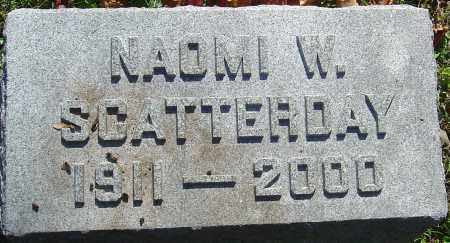 WARNER SCATTERDAY, NAOMI K - Franklin County, Ohio | NAOMI K WARNER SCATTERDAY - Ohio Gravestone Photos