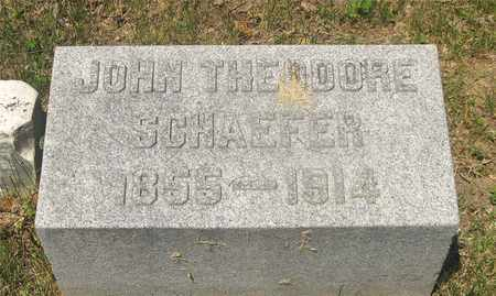 SCHAEFER, JOHN THEODORE - Franklin County, Ohio | JOHN THEODORE SCHAEFER - Ohio Gravestone Photos
