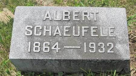 SCHAEUFELE, ALBERT - Franklin County, Ohio | ALBERT SCHAEUFELE - Ohio Gravestone Photos