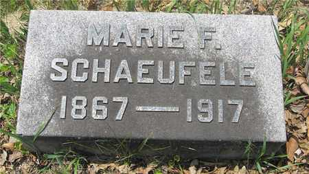 SCHAEUFELE, MARIE F. - Franklin County, Ohio | MARIE F. SCHAEUFELE - Ohio Gravestone Photos