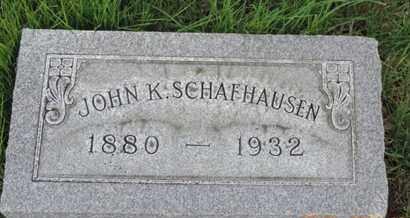SCHAFHUSEN, JOHN K - Franklin County, Ohio | JOHN K SCHAFHUSEN - Ohio Gravestone Photos