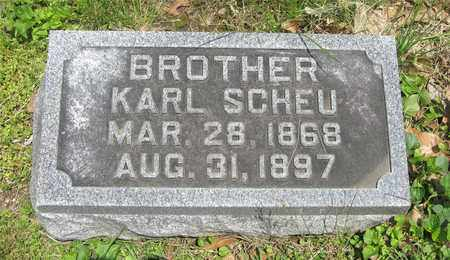 SCHEU, KARL - Franklin County, Ohio | KARL SCHEU - Ohio Gravestone Photos