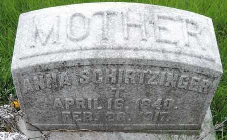 SCHIRTZINGER, ANNA - Franklin County, Ohio | ANNA SCHIRTZINGER - Ohio Gravestone Photos