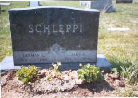 SCHLEPPI, HERMAN L. - Franklin County, Ohio | HERMAN L. SCHLEPPI - Ohio Gravestone Photos