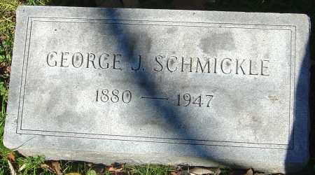 SCHMICKLE, GEORGE J - Franklin County, Ohio | GEORGE J SCHMICKLE - Ohio Gravestone Photos