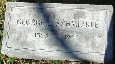 SCHMICKLE, GEORGE J - Franklin County, Ohio   GEORGE J SCHMICKLE - Ohio Gravestone Photos
