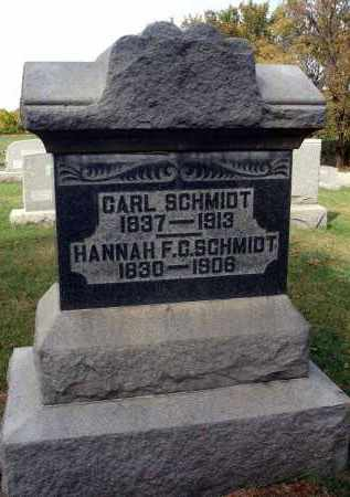 SCHMIDT, HANNAH F. C. - Franklin County, Ohio | HANNAH F. C. SCHMIDT - Ohio Gravestone Photos