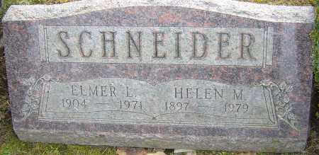 SCHNEIDER, ELMER L - Franklin County, Ohio | ELMER L SCHNEIDER - Ohio Gravestone Photos