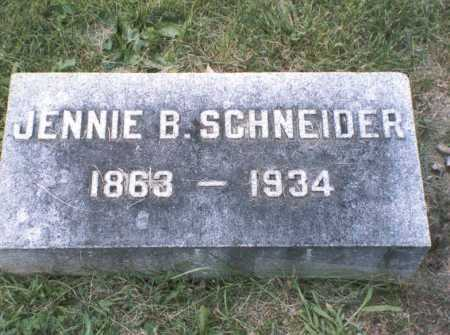 SCHNEIDER, JENNIE B. - Franklin County, Ohio | JENNIE B. SCHNEIDER - Ohio Gravestone Photos