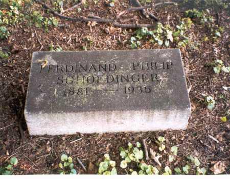 SCHOEDINGER, FERDINAND PHILIP - Franklin County, Ohio | FERDINAND PHILIP SCHOEDINGER - Ohio Gravestone Photos
