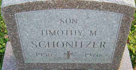 SCHONITZER, TIMOTHY - Franklin County, Ohio | TIMOTHY SCHONITZER - Ohio Gravestone Photos
