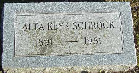 KEYS SCHROCK, ALTA - Franklin County, Ohio | ALTA KEYS SCHROCK - Ohio Gravestone Photos