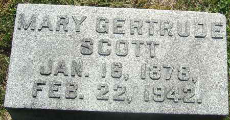 SCOTT, MARY GERTRUDE - Franklin County, Ohio | MARY GERTRUDE SCOTT - Ohio Gravestone Photos