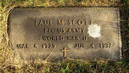 SCOTT, PAUL M. - Franklin County, Ohio | PAUL M. SCOTT - Ohio Gravestone Photos