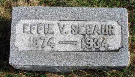 SECAUR, EFFIE V. - Franklin County, Ohio | EFFIE V. SECAUR - Ohio Gravestone Photos