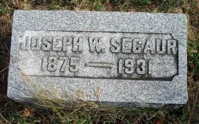 SECAUR, JOSEPH W. - Franklin County, Ohio | JOSEPH W. SECAUR - Ohio Gravestone Photos
