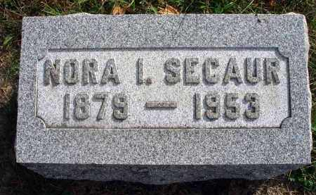 SECAUR, NORA I. - Franklin County, Ohio | NORA I. SECAUR - Ohio Gravestone Photos