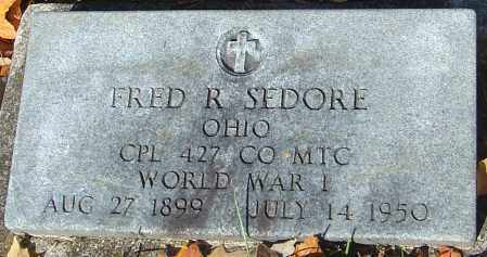 SEDORE, FRED R - Franklin County, Ohio | FRED R SEDORE - Ohio Gravestone Photos