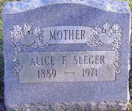 SEEGER, ALICE FAYE - Franklin County, Ohio | ALICE FAYE SEEGER - Ohio Gravestone Photos